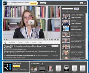 Rink Strategic Communications YouTube Channel