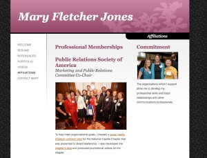Image of web site for Mary Fletcher Jones