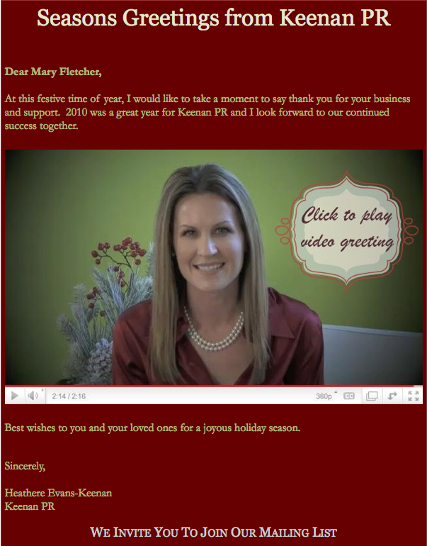 How to make a holiday greeting video fletcher prince holiday m4hsunfo