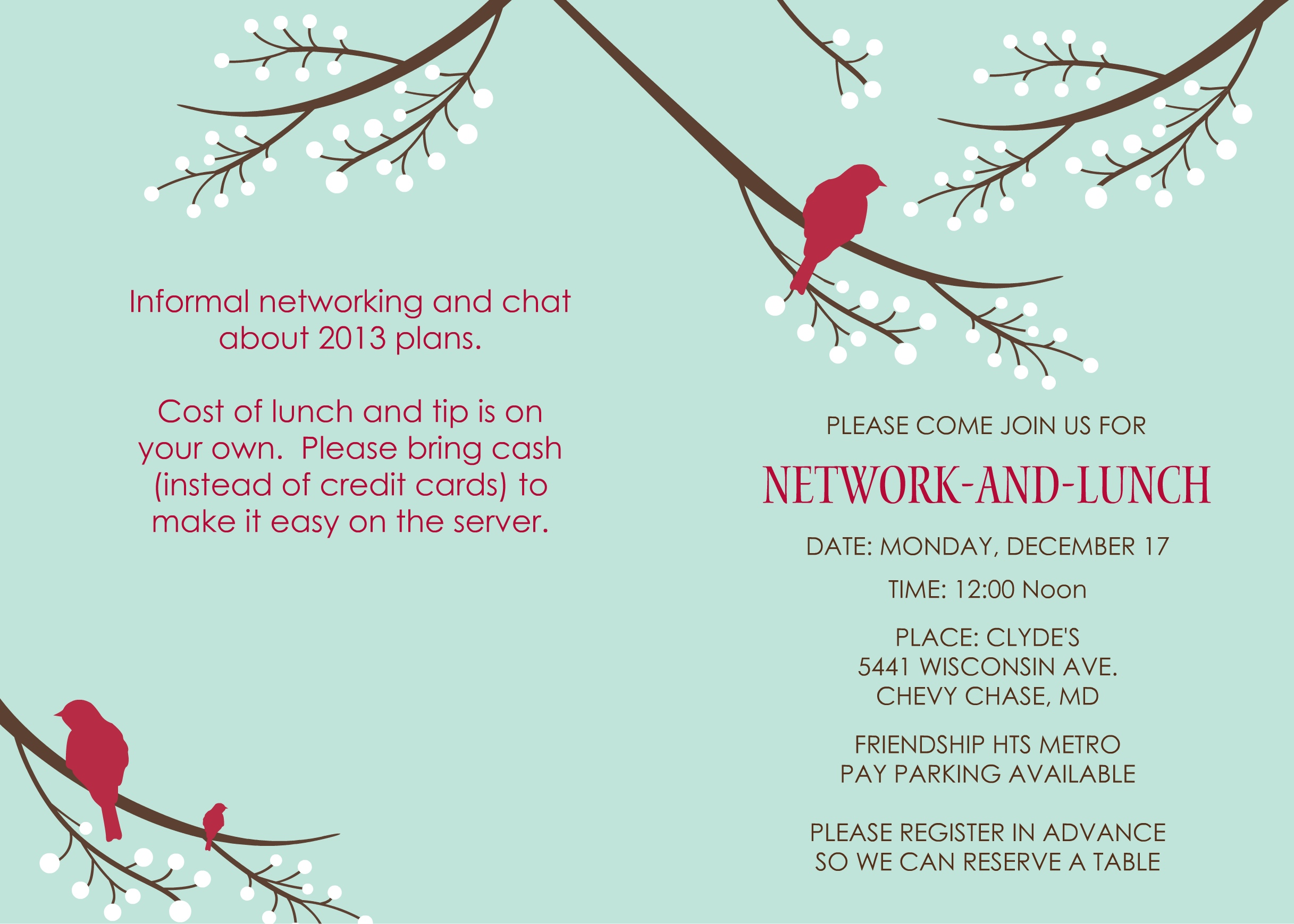 celebrating a year of networking lunches